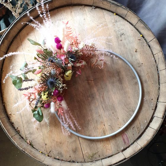 Handcrafted copper hoops - Flowers Gifts Fochabers Elgin Lossiemouth Moray Rothes
